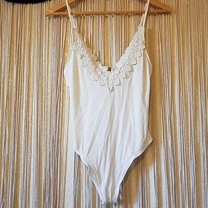 Free People Intimately white body suit